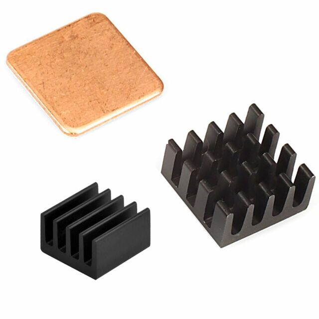 For Raspberry Pi 3//2 3 Piece Aluminium and Copper Heat Sink Adhesive Cooling Kit