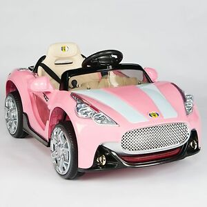 Maserati style 12v kids ride on car electric power wheels for Pink mercedes benz power wheels