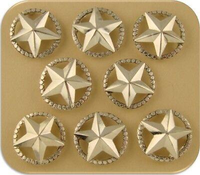 2 Hole Beads Lone Stars Texas ~Equestrienne~Western~Cowboy~Horse~ Sliders QTY 8