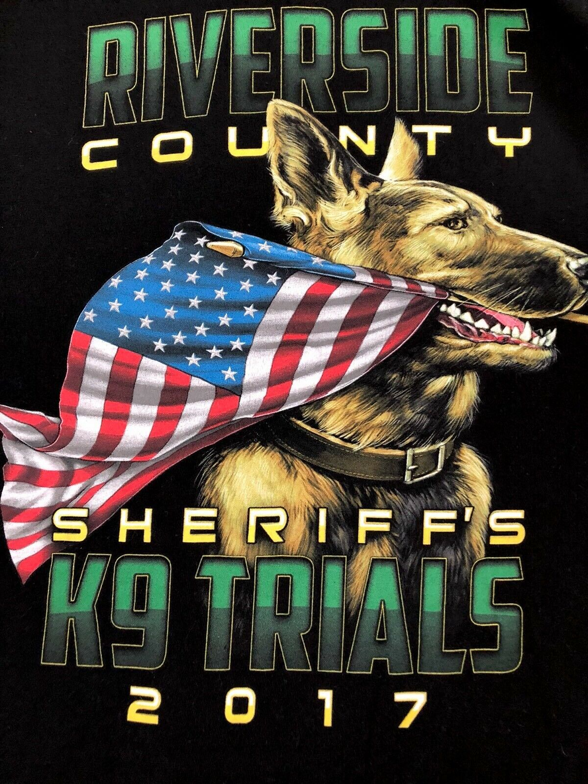 RIVERSIDE COUNTY SHERIFFS Department K 9 TRIALS 2017 Adult Rare T-SHIRT Size M