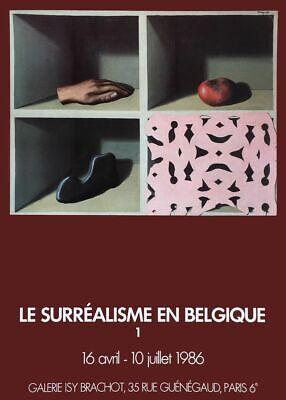 Affiche Galerie Isy Brachot 1986 Le surréalisme en Belgique I René Magritte