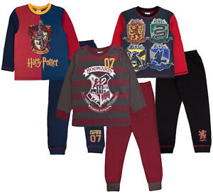 db238b5cba Image is loading Boys-Girls-Harry-Potter-Pyjamas-Quidditch-Hogwarts-House-