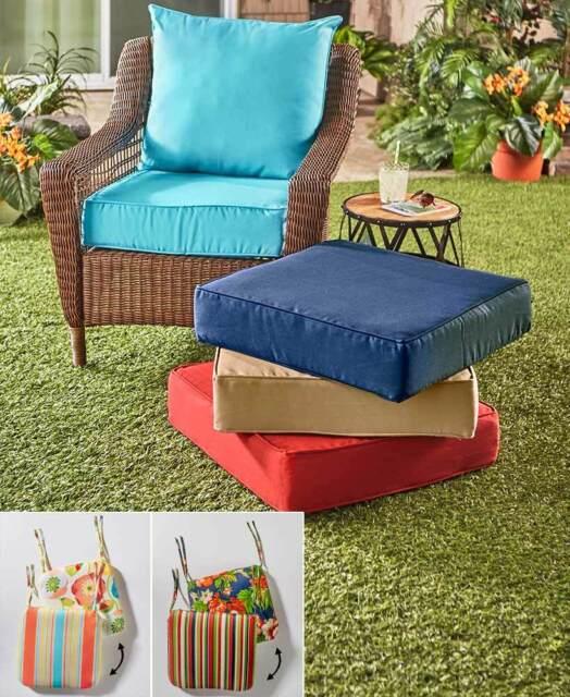 Piece Deep Seat Patio Chair Cushion, Outside Patio Chair Cushions