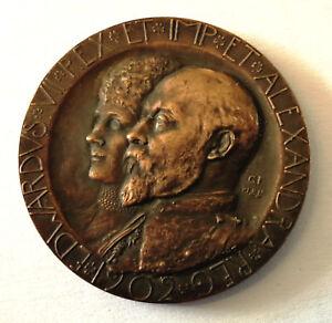 1902-Great-Britain-King-Edward-VII-amp-Queen-Alexandra-Bronze-Coronation-Medal