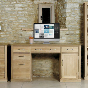image is loading baumhaus mobel oak twin pedestal computer desk solid