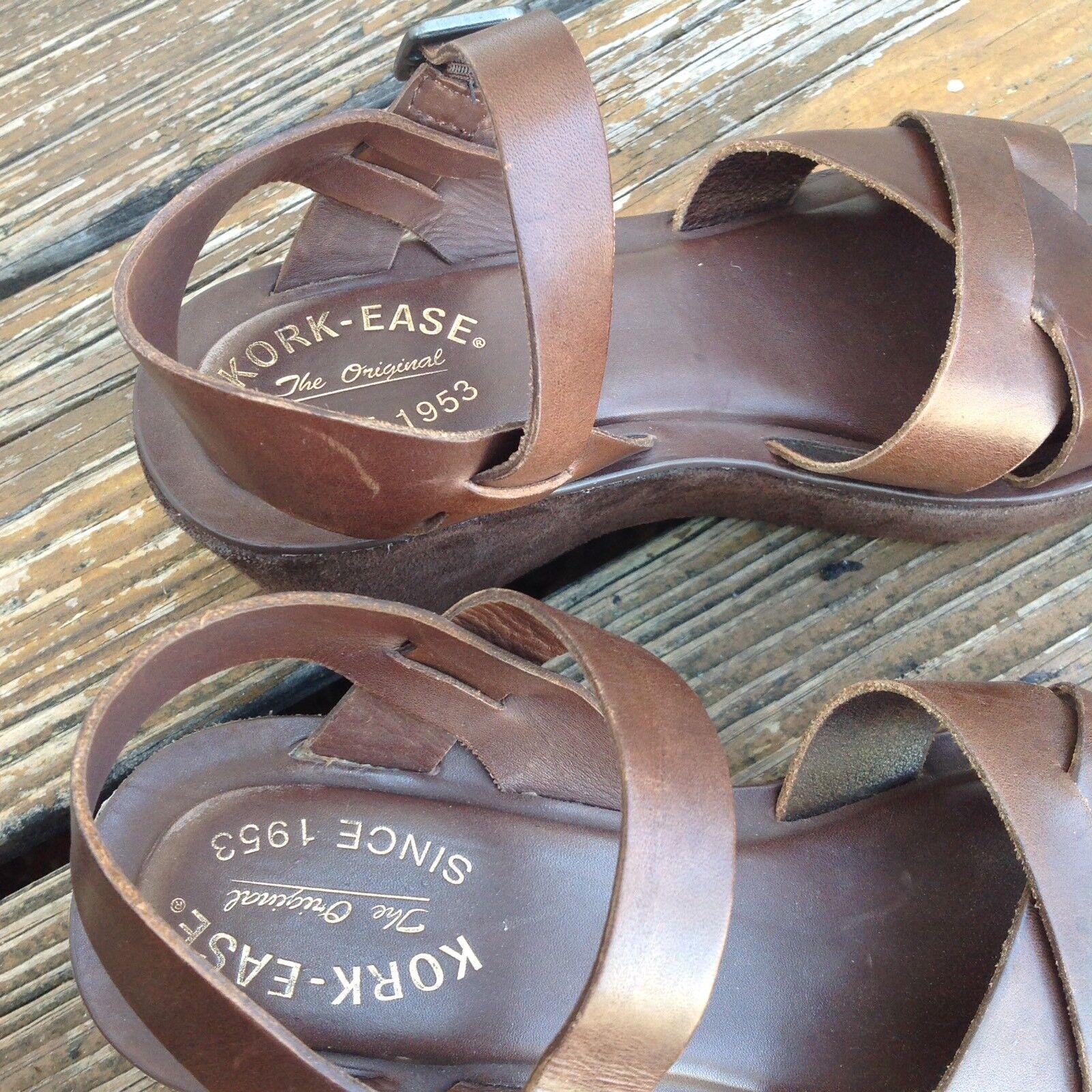 Kork Ease Braun Wedge Platform Sandales Damenschuhe 9 Heels EU 39 Leder Suede Heels 9 Schuhes e24ebb