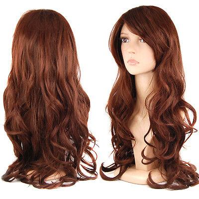 """UK 28"""" Charming Women's Long Wavy Straight Layered Hair New"""