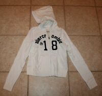 Abercrombie Girls Small White Hooded Zip Front Jacket
