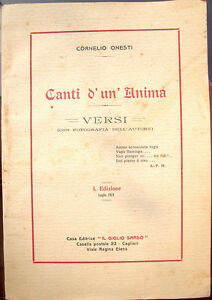 1924-POESIE-DI-CORNELIO-ONESTI-SCRITTE-A-BOLOGNA-SARDEGNA-PRIMA-EDIZIONE-RARA