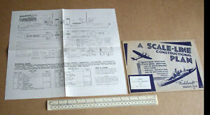 1940s-Vintage-Home-Front-Modelcraft-Plan-Cruiser-USS-New-Orleans-Micromodels