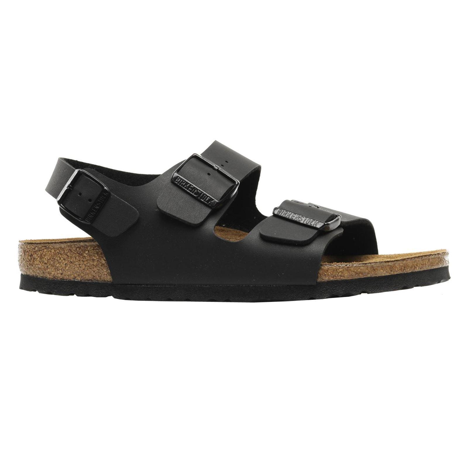 Birkenstock Milano Black Synthetic Mens Sandals
