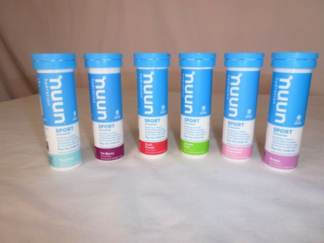 Nuun Electrolyte Sport Hydration Tablets - 60 Tablets - 6 Flavors - Exp 10/21