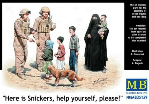 """please!/"""" MB35159 1//35 MASTER BOX /""""Here is Snickers help yourself"""