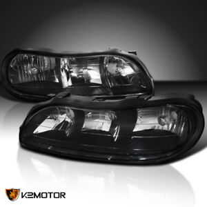 Image Is Loading 1997 2003 Chevy Malibu Black Replacement Headlights Clear