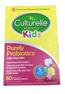 Culturelle Kids Daily Chewables Purely Probiotics 60 tablets EXP 01/2023