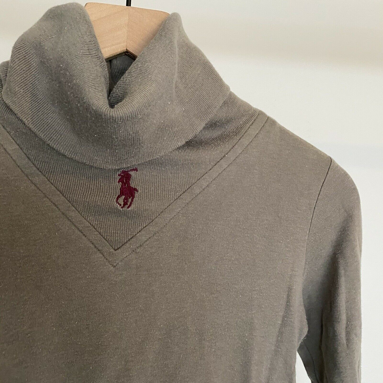 Vtg 80s 90s Ralph Lauren Turtleneck Sweater Cente… - image 2