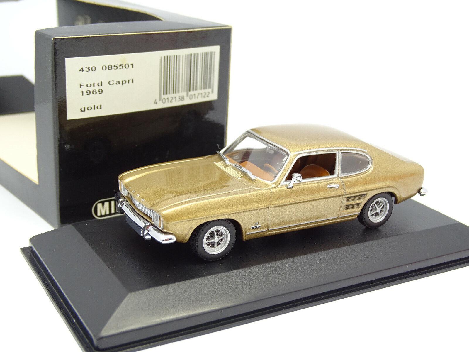 Minichamps 143  Ford Capri 1969 oro
