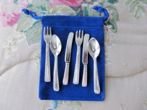 American Girl Doll Size Silverware Tiny METAL for Samantha Felicity Molly