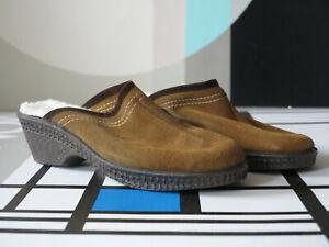 Details zu Wildleder Clogs Pantolette Schuhe 80er True Vintage Badeschuhe OVP suede slipper