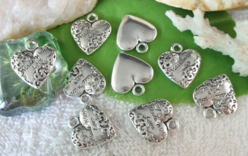 20pcs Tibetan Silver Made with Love Coeur Charme FC10324