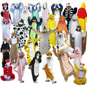 Unisex-Onesies-Kigurumi-Animal-pajamas-pyjamas-onesie-jumpsuit-costume-panda-fox
