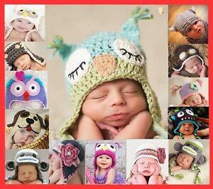 Baby-Boy-Girl-Animal-Owl-Beanie-Child-Photo-Crochet-Knit-Costume-Hat-Cap-Prop