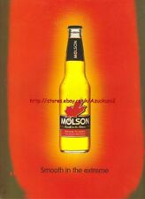 """Molson Beer """"Smooth In The Extreme""""1998 Magazine Advert #2286"""
