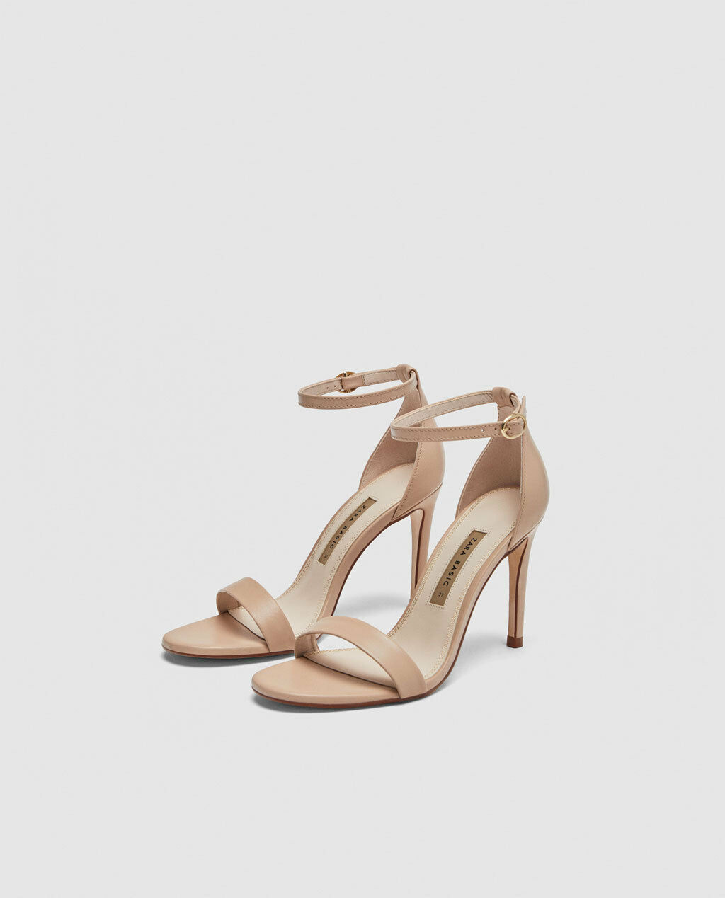 ZARA NEW SANDALS Damenschuhe LEATHER HIGH HEEL SANDALS NEW ECRU STILETTO Schuhe SIZE UK 5 EU 38 48917e