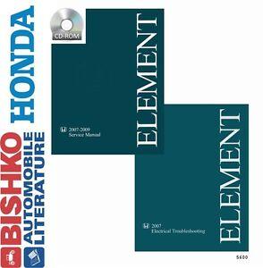 2007 2008 2009 honda element shop service repair manual cd. Black Bedroom Furniture Sets. Home Design Ideas
