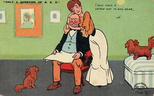 1909-VINTAGE-COMIC-WIFE-BEGGING-FOR-NEW-HAT-FROM-HUSBAND-POSTCARD-to-Buxton-OR
