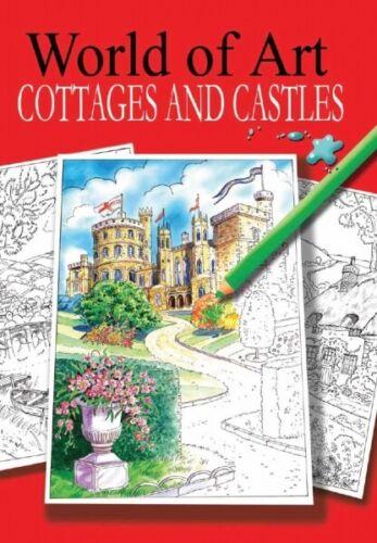 Libros de dibujo colorante para adultos Arte Anti Estrés Relajante mundo del arte * P2580