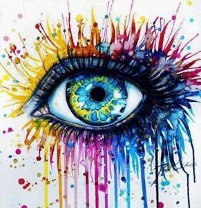 watercolor pop art eye ball zombie rainbow wet paint graffiti cool 3