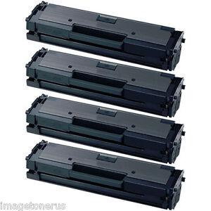 4x black toner for samsung xpress mlt d111s m2020w m2070. Black Bedroom Furniture Sets. Home Design Ideas