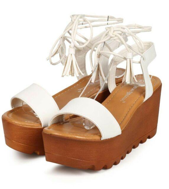 Nature Breeze Womens Rhinestone Slide Flat Sandals