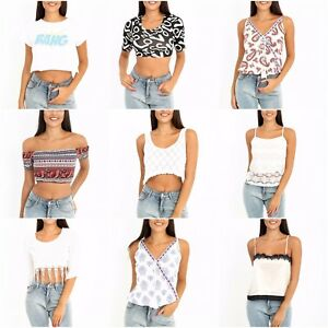 New-Womens-Ladies-Sleeveless-Swing-Cami-Strappy-Floral-Aztec-Vest-Top-Size-8-14