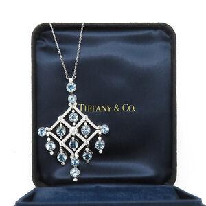 Nyjewel tiffany co large platinum 67ct aquamarine diamond image is loading nyjewel tiffany amp co large platinum 6 7ct aloadofball Images