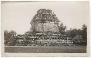 BOROBUDUR Barabudur INDONESIA RPPC RP Real Photo Postcard TEMPLE Buddhist BUDDHA