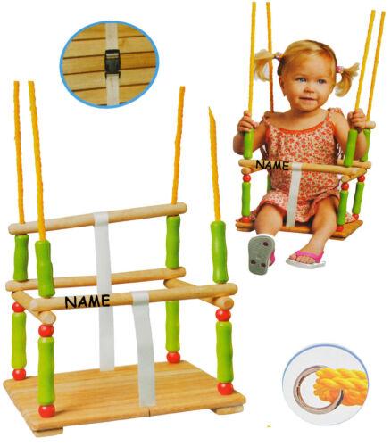 Kinderschaukel leichter Einstieg Schaukel aus Holz Gitterschaukel mit Gurt