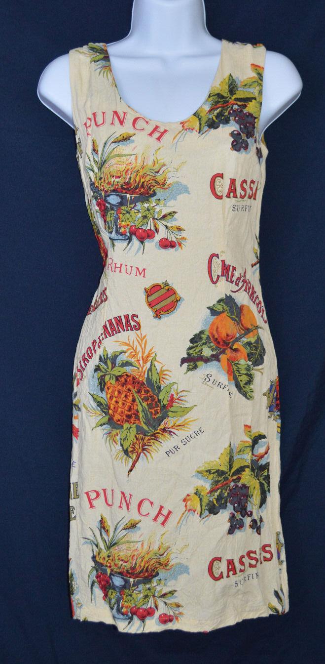 Selten Früchtemuster Jams World S Hawaii Kleid Erdbeere, Ananas, Trauben