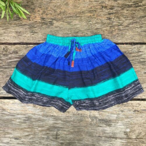 S Women/'s festival shorts beach ethnic boho bohemian hippy hippie XS