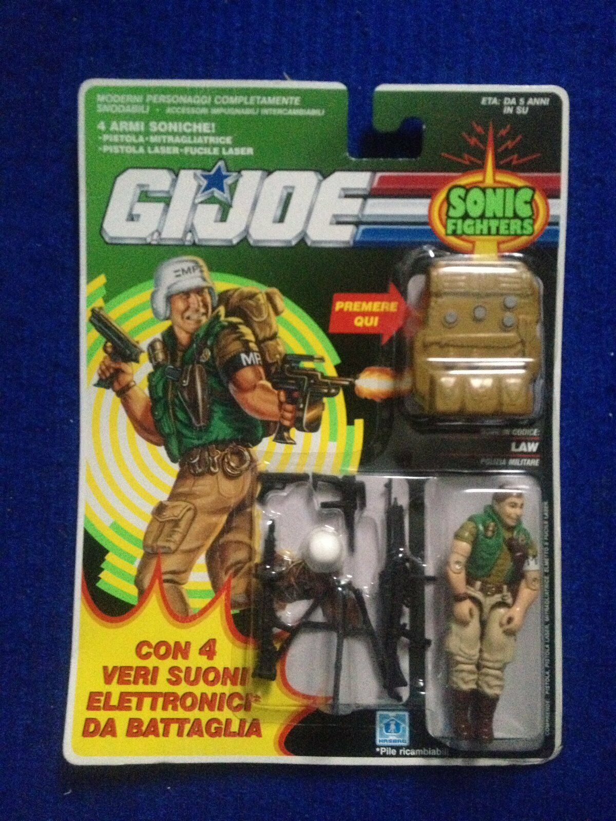 Gi joe Law  Sonic Fighter Mint Carded New Action Force