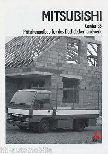 Mitsubishi-Canter-35-Pritsche-Dachdecker-Prospekt-1-90-1990-LKW-truck-brochure