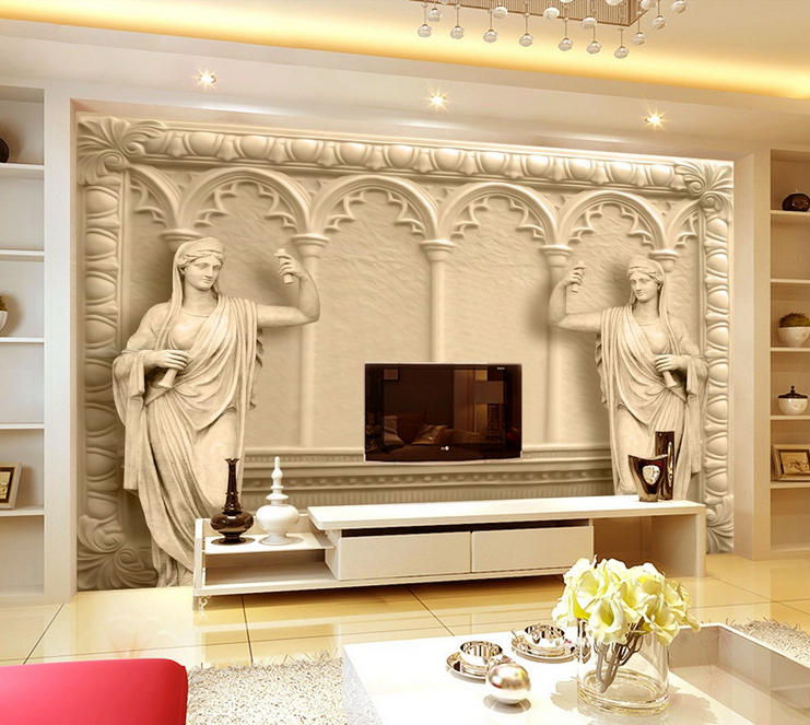 3D Kunstschnitzen Göttin 843 Tapete Wandgemälde Tapete Tapeten Bild Familie DE    Exquisite (in) Verarbeitung    Schön und charmant    Spielen Sie das Beste