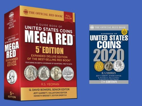 2020 Red Book MEGA Plus Blue Book Guides Book of United States Coins