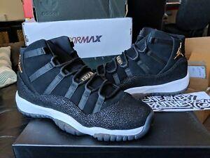 Nike Air Jordan Retro XI 11 PREM HC Heiress Stingray Black Gold ... 0f5f47ebd