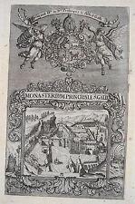 Kloster St. Gallen   Schweiz seltener echter alter   Kupferstich um 1700