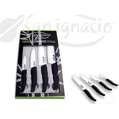 Juego de 4 cuchillos de ceramica San Ignacio ligeros y siempre afilados