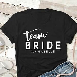 478740420 Woman's Wedding Hen Party T shirt | Team Bride | Personalised | eBay