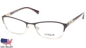 NEW Vogue VO 4057-B 997 BROWN  GOLD EYEGLASSES GLASSES VO4057B 52-17 ... 6244651cbe6