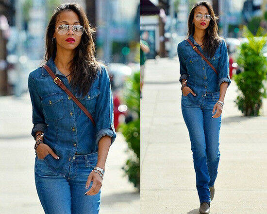 $152 Terrific BELLA DAHL Fitted Chambray Button D… - image 9